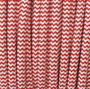 Textile Cable, 2x0,75mm, 1m, red-white